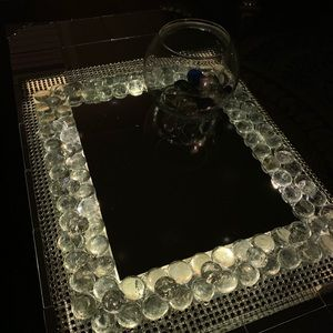 Beautiful Mirrored Tray with Light
